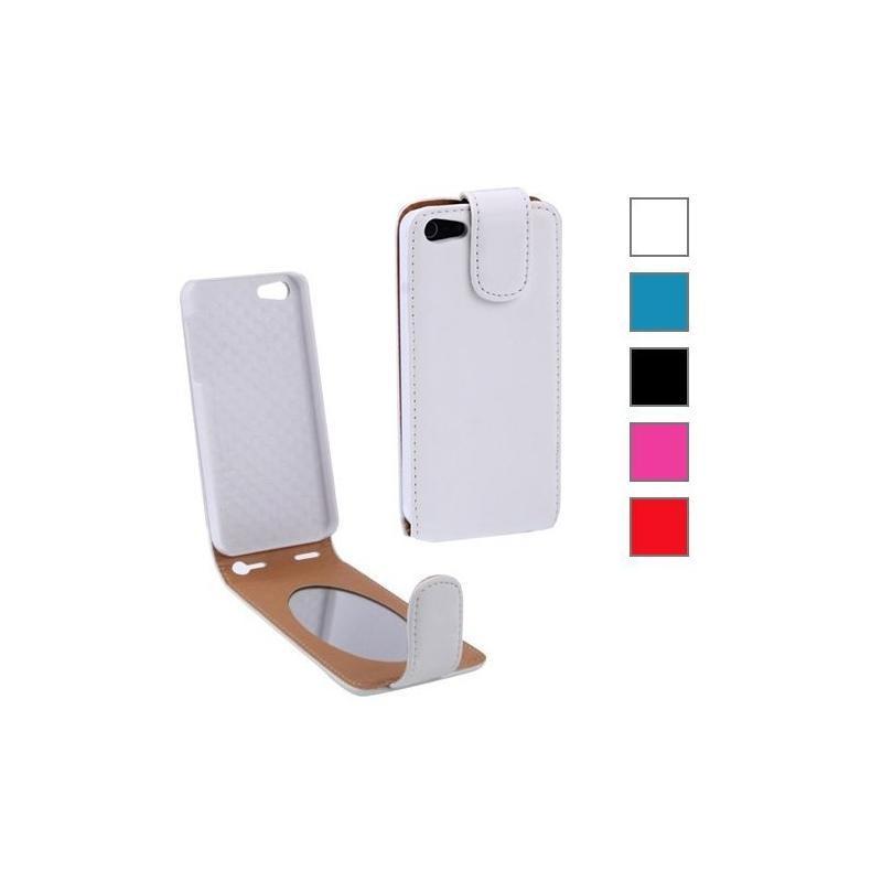 Etui de protection en cuir avec miroir pour iphone 5 for Application miroir pour iphone
