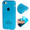 Coque iPhone 5c semi-transparente en silicone couleur bleu