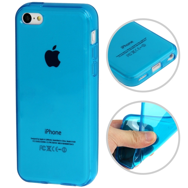 coque iphone 5c semi transparente en silicone iphony. Black Bedroom Furniture Sets. Home Design Ideas