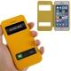 Housse à rabat iPhone 5C couleur jaune