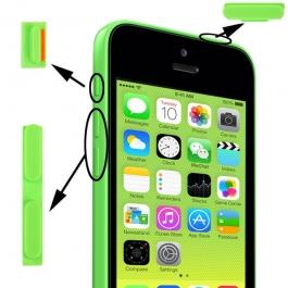 Kit boutons de remplacement iPhone 5C couleur vert