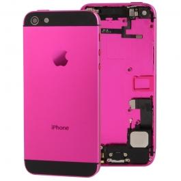 Chassis iPhone 5 avec boutons + ports + nappes pré-montés couleur rose