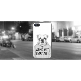 Coque iPhone 4 et 4S Dog Same Shit Every Day