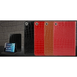 Etui iPad Air en cuir texture Crocodile