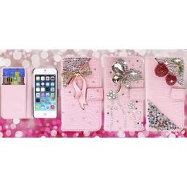 Etui iPhone 5 et 5S en cuir diamants