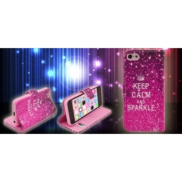 Etui iPhone 5C Keep Calm and Sparkle
