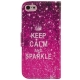 Etui iPhone 5C Keep Calm and Sparkle