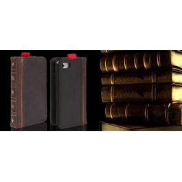 Housse en cuir design livre iPhone 4 et 4S