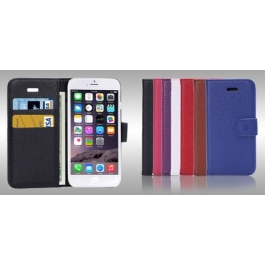 Housse porte-cartes en cuir iPhone 6