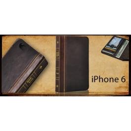 Housse en cuir design livre iPhone 6