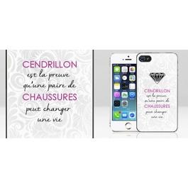 Coque iPhone 5 et 5S citation Cendrillon