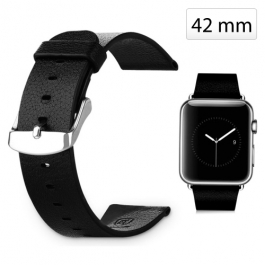 Bracelet Apple Watch (38mm) en cuir véritable - Noir