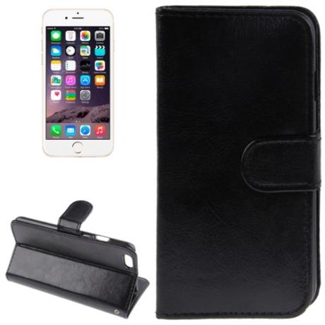 Housse Porte-Cartes en cuir iPhone 6 et 6S - Noir