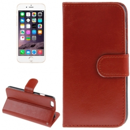 Housse Porte-Cartes en cuir iPhone 6 et 6S - Marron