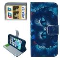 """Housse iPhone 5 / 5S / SE porte-cartes intégré """"Alice au pays des Merveilles"""" – Bleu"""
