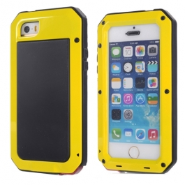 coque iPhone waterproof anti-choc 5 / 5S / SE - Jaune
