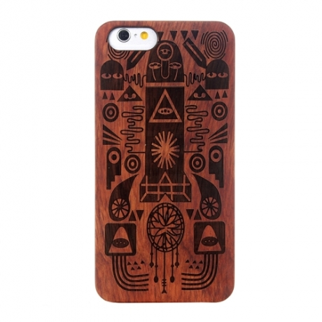 coque Iphone 6 / 6S en bois motif cartoon