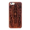 Coque Iphone 6 / 6S en bois motif aztèque