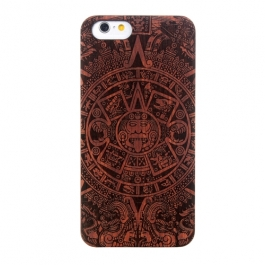 Coque Iphone 6 / 6S en bois motif Aztéque