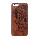Coque Iphone 6 / 6S en bois motif Crâne