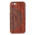 Coque Iphone 6 / 6S bois motif Mandala