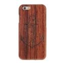 Coque Iphone 6 / 6S bois motif Ancre Marine