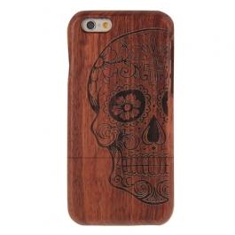 coque Iphone 6 / 6S uniquement bois motif Crâne