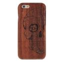 Coque Iphone 6 / 6S bois motif Crâne