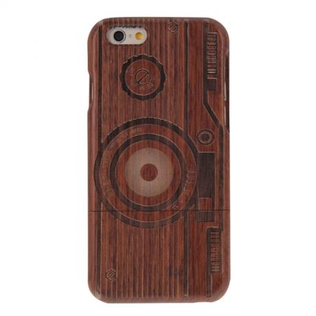 coque Iphone 6 / 6S uniquement bois motif Camera