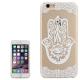 coque iphone 6 / 6S plastique transparente et blanche motif main de fatma