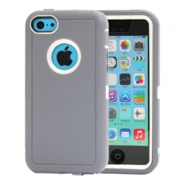 coque iPhone 5C bicolore anti-choc - gris / blanc