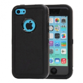 coque iPhone 5C bicolore anti-choc - noir / noir