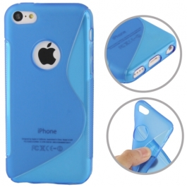 coque iPhone 5C S-Line - bleu