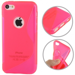 coque iPhone 5C S-Line - rose