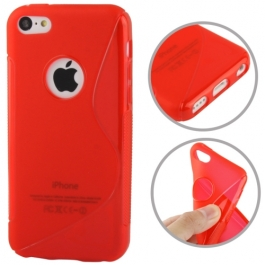 coque iPhone 5C S-Line - rouge