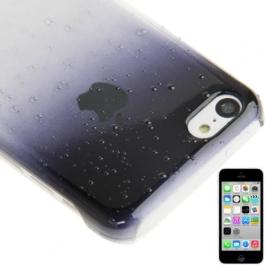 coque iPhone 5C effet goutte d'eau - dégradé noir