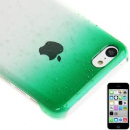 coque iPhone 5C effet goutte d'eau - dégradé vert