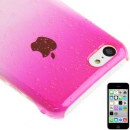 coque iPhone 5C effet goutte d'eau - dégradé rose