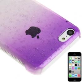 coque iPhone 5C effet goutte d'eau - dégradé violet