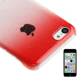 coque iPhone 5C effet goutte d'eau - dégradé rouge