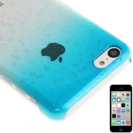 coque iPhone 5C effet goutte d'eau - dégradé bleu ciel