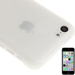 coque iPhone 5C effet goutte d'eau - dégradé blanc