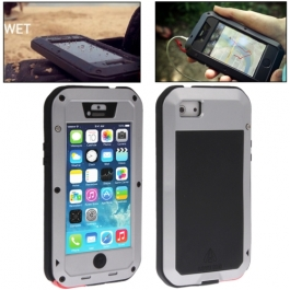 coque iPhone waterproof anti-choc 5C - argent