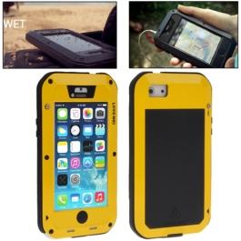 coque iPhone waterproof anti-choc 5C - jaune