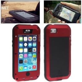 coque iPhone waterproof anti-choc 5C - rouge