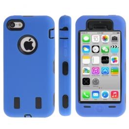 coque iPhone 5C anti dérapante - bleu