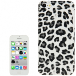 coque iPhone 5C Léopard - gris