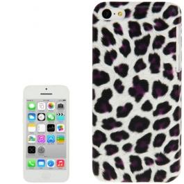 coque iPhone 5C Léopard - violet