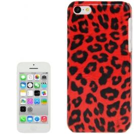 coque iPhone 5C Léopard - rouge