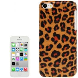 coque iPhone 5C Léopard - orange